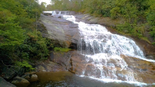 waterfall in graveyard fields